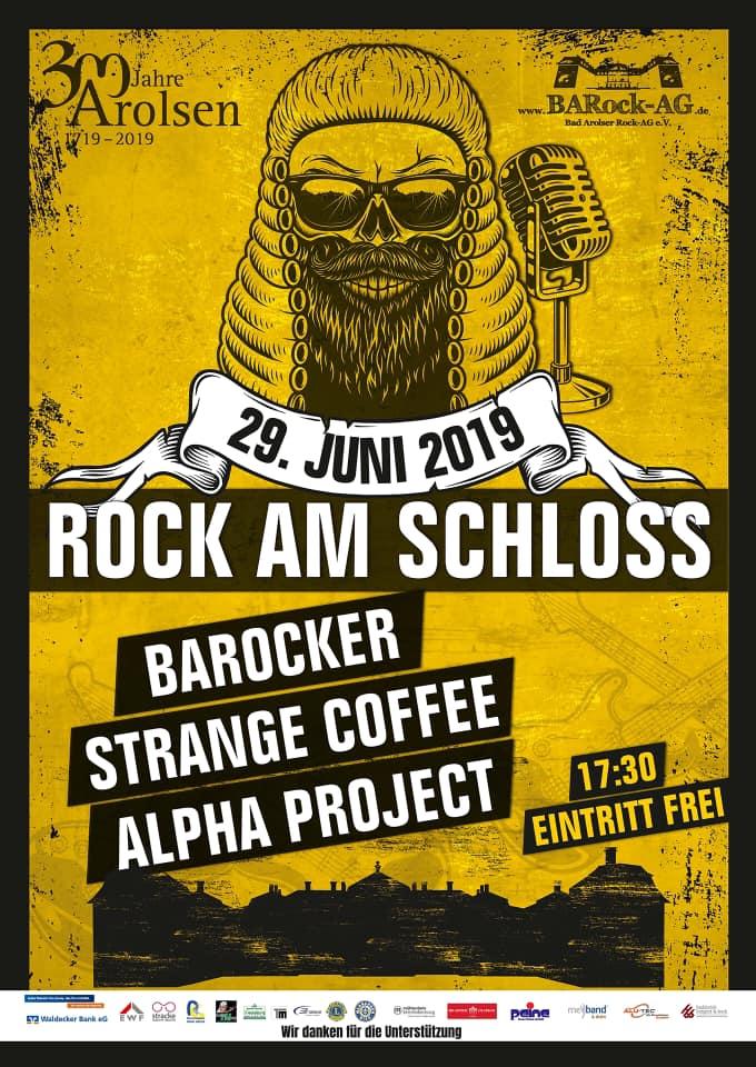 Rock-Konzert zum 300-jährigen Bestehen von Bad Arolsen auf dem Schlosshof des Arolser Residenzschlosses